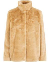 Vero Moda - Vmmink Faux Fur Jacket Giacca - Lyst
