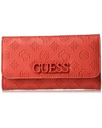 Guess Portefeuille Femme Kamryn Swph6691430 Pewter Lyst