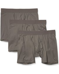 Goodthreads 3-Pack Lightweight Performance Knit Boxer Brief Calzoncillos Tipo - Gris