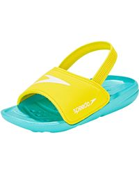 Speedo Atami Sea Squad Slide Infant Flip Flops - Yellow