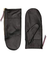 Tommy Hilfiger Adp Aw Selene Leather Mitten - Black