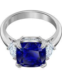 Swarovski 5515711 Attract Bague pour Taille 10 - Bleu