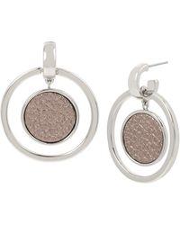 Kenneth Cole Metallic Orbital Drop Earrings - Gray