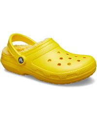Crocs™ Classic Lined Warm and Fuzzy Slippers Clog - Gelb