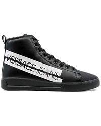 Scarpe - Uomo, Sneaker a Collo Alto - Nero