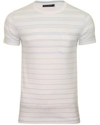 French Connection S T-shirt By Fcuk Summer Graded Stripe - White