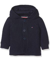 Tommy Hilfiger Textured Hooded Cardigan Sweat-Shirt À Capuche - Bleu