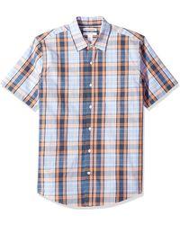 Amazon Essentials Camicia da uomo a maniche corte - Blu