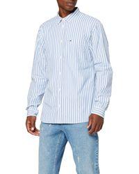 Tommy Hilfiger TJM Classics POPLIN Stripe Shirt Freizeithemd - Blau
