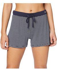 Esprit Jayla Shorts Pantalones de Pijama - Azul