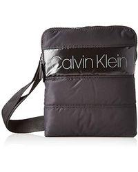 Calvin Klein Puffer Flat Crossover - Nero