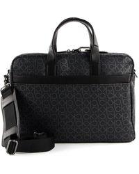 Calvin Klein Laptop Bag Black Mono