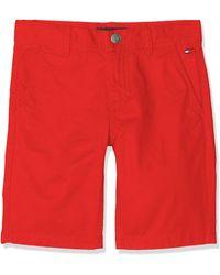 Tommy Hilfiger Essential Twill New Chino Short Pantalones Cortos - Rojo