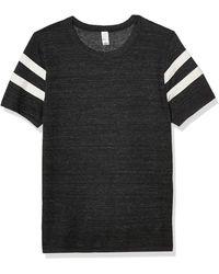Alternative Apparel Short Sleeve Football Tee - Black
