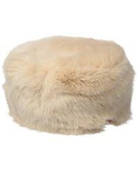 Ted Baker - London Wande Mini Bow Detail Faux Fur Hat - Lyst ad3016d5cb84