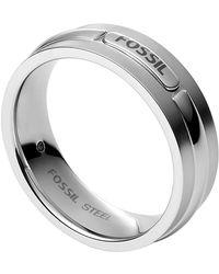 Fossil Anelli Uomini acciaio inossidabile Non applicabile applicabile - JF03636040 - Metallizzato