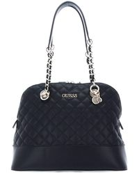 Guess Illy Dome Satchel Bag Black - Noir