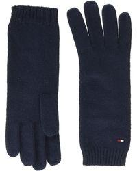 Tommy Hilfiger Flag Knit Gloves, - Blue