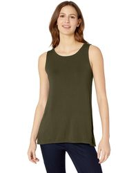 Amazon Essentials Patterned Swing Tank Shirt - Green