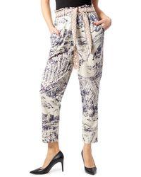 Desigual Pantalon pant tropical 20swpk12 m crème - Multicolore