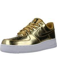 Nike Air Force 1 Sp Trainers - Metallic