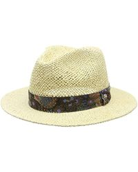 Ben Sherman - Brody Panama Hat, Blue (vintage Peacock), One Size - Lyst