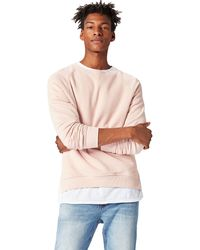 FIND Sweatshirt With Raglan Sleeve In Relaxed Cut - Pink