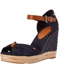 Tommy Hilfiger - Basic Opened Toe High Wedge Sandals - Lyst