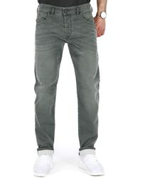 DIESEL D-bazer L.32 Trousers Tapered Fit Jeans - Green
