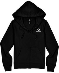 Converse Star Chevron EMB FZ Hoodie Full Zip Black - Noir