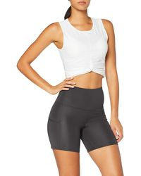 AURIQUE Sports Shorts With Side - Black