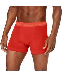 Calvin Klein Boxer aderenti in confezione da 3 vita media - Cotton - Multicolore