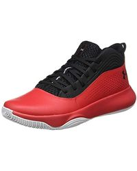 Under Armour UA Lockdown 4, Chaussures de Basketball - Rouge