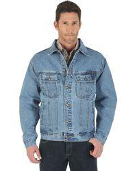 Wrangler - Big & Tall Unlined Denim Jacket,vintage Indigo,large Tall - Lyst