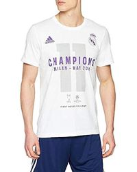 d8f88046241 adidas Rmcf Real Madrid World Champion 17 T-shirt White in White for ...