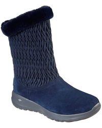 Skechers On The Go Joy - Snow Bunny S Boot, Navy/gray, 9.5 - Blue