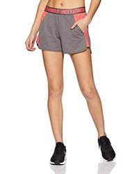Under Armour Pantalones Cortos Deportivos para Mujer - Gris
