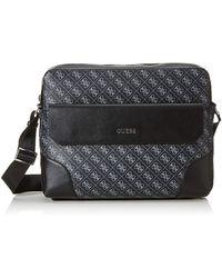 Guess Dan Briefcase 's Messenger Bag - Black
