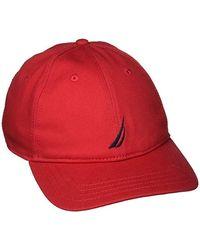 Nautica Berretto da Baseball Uomo - Rosso