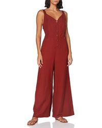 Superdry Eden Linen Jumpsuit - Red