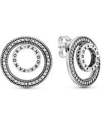 PANDORA Orecchini a perno Donna argento - 297446CZ - Metallizzato