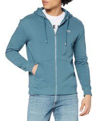 Lee Jeans Basic Zip Through Hoodie Felpa con Cappuccio - Grigio