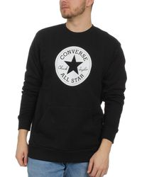 Converse Sweater Chuck Patch Graphic Crew 10005825 001 Black - Schwarz