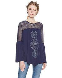 Desigual Ts_Neusifu, Camisa Manga Larga para Mujer