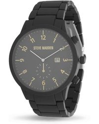 Steve Madden Fashion Watch Smw244bk - Black