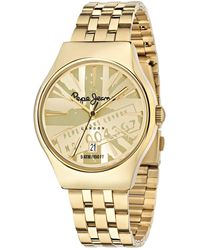 Pepe Jeans - Joey Quartz Watch With Gold Dial Analogue Display And Gold Stainless Steel Strap R2353113002 - Lyst