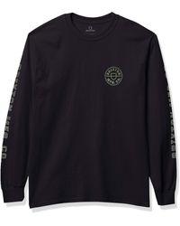 Brixton Crest L/s Stt - Black