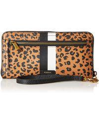 Fossil Portefeuille Logan RFID Tab Cheetah - Multicolore