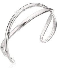 T Tahari - Btir Hard Bangle Cuff Bracelet, Silver - Lyst