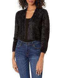 Tommy Hilfiger S Black 3/4 Sleeve Open Cardigan Sweater